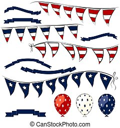 4th of July  vector elements set