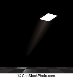 Light from hole in ceiling