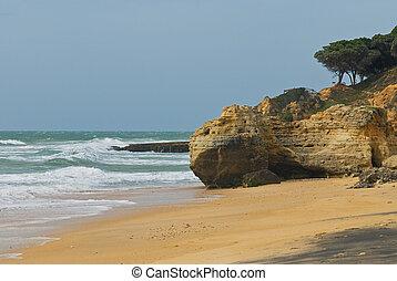 Algarve, Portugal - beach scenery at Algarve, Portugal