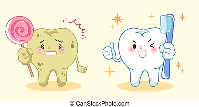 tooth with health cocnept