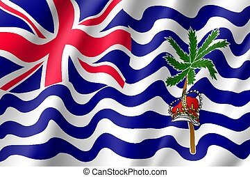 Flag British India Ocean Territory. - Waving vector lag of...