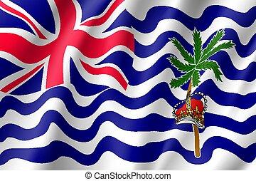 Flag British India Ocean Territory. - Waving vector lag of...
