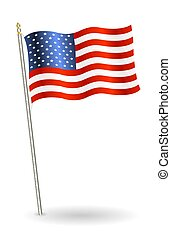 united states of america flag on a white background