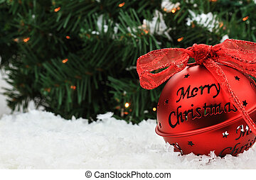 Christmas bell ornament beautiful red christmas bell