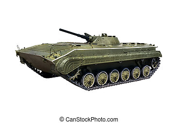 Russian infantry light tank BMP-2 with clipping path on a...