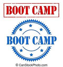 Boot Camp-stamps - Set of stamps with text Boot Camp,vector...
