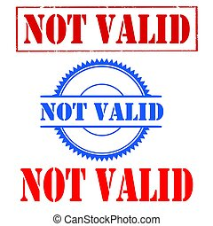 Not Valid-stamps - Set of stamps with text Not Valid,vector...