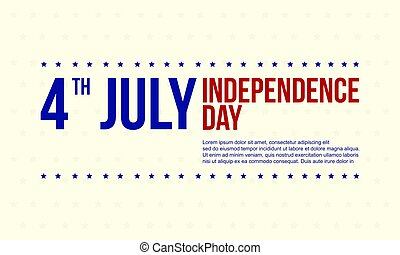 Independence day background collection stock