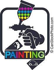 Sprayer for painting symbol - Sprayer for painting cars and...