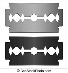 razor blade - steel blade razor on white background vector...