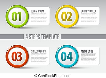 Four steps circle template
