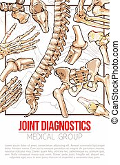 Medical vector poster for joint diagnostics