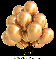 Gold balloons golden birthday party carnival decoration yellow