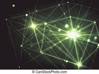 carta da parati, verde, concetto, tecnologia