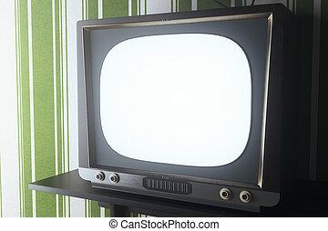 Vinatge TV closeup