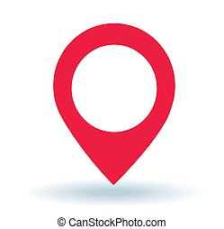 Map pointer. GPS location symbol.
