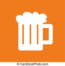 vector illustration of a glass of beer
