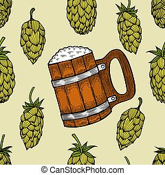Seamless background of hop