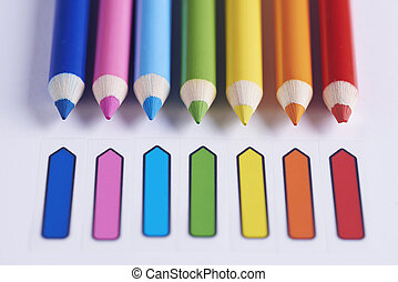 Colorful pencils side by side