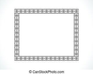 abstract artistic floral frame.eps