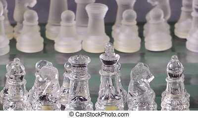 Chess Game Made by Glass