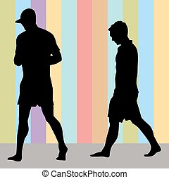 Men Walking - An image of two men walking.