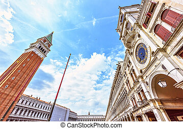 St Marks Campanile The Tower of Venetia . San Marco square...