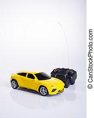 toy car or radio control car on background. - toy car or...