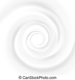 White Milk, Yogurt, Cosmetics Product Swirl Cream Illustration. Mousse Whirlpool And Vortex. Swirl Cream Texture Background
