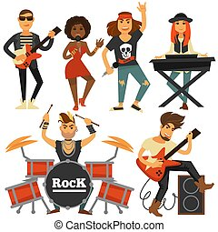 Rock music band singer, bass guitarist and percussion player...