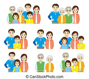 family structure - upper half part of the body -