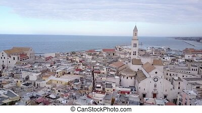 Old town of Bari, Puglia, Italy - Panoramic view of old town...