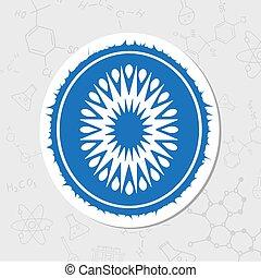 Vector kiwi icon - Vector flat sticker kiwi icon on white...