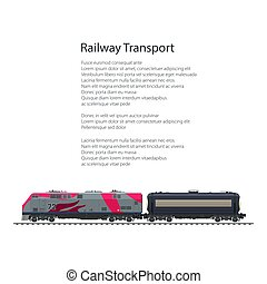 Brochure Locomotive with Tank on Railway Platform - Brochure...