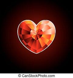 red diamand heart