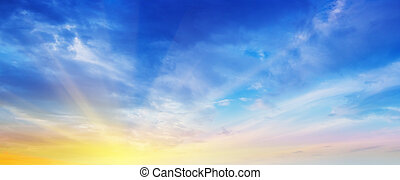 Dramatic sky and clouds summer ultramarine outdoor