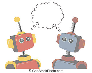 Two Robots Thinking of Same Subject