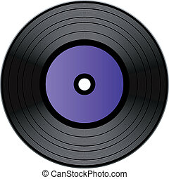 Vector vinyl record over white EPS 8, AI, JPEG