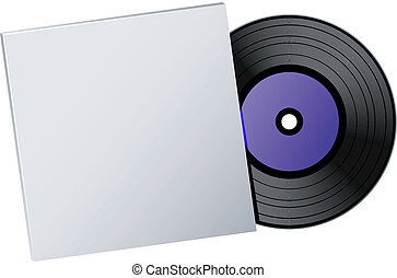 Vector vinyl record over white. EPS 8, AI, JPEG