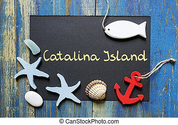 summer postcard from Catalina Island, United States