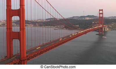 Golden Gate - Time lapse Golden Gate Bridge at twilight