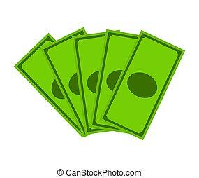 Money dollar note vector symbol icon design.