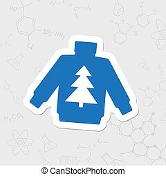 Vector flat icon - Vector christmas icon. New year...