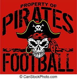pirates football - property of pirates football team design...