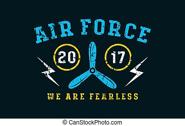 Air force emblem. Graphic design for t-shirt