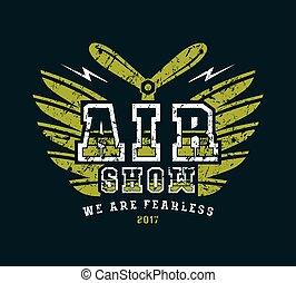 Air show emblem
