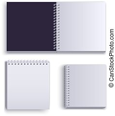 Clean empty paper notepad for notes