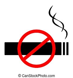 No smoking sign, symbol flat icon. Vector illustration
