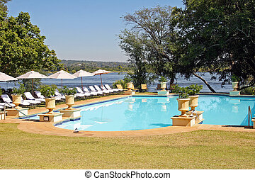 Hotel Swimming Pool - The swimming pool of the Royal...