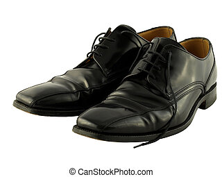 Traditional Black Leather Work Shoes - A comfortable pair of...